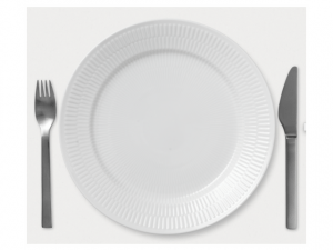 Fluted White Dinnerware from Royal Copenhagen