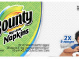 Bounty Quilted White Paper Napkins – 200 ct